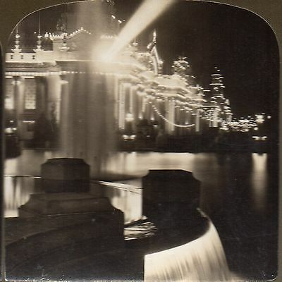 g584 Stereoview SVC Real Photo 1904 Palace of Electricity St Louis Expo by White