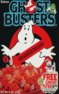 GHOST BUSTERS 1985 Cereal Box Fridge Magnet