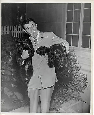 """1873. Orig Nov 1946 NBC-TV Press Photo """"A Day in the Life of Dennis Day"""""""