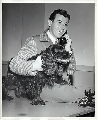 """1871. Orig Nov 1946 NBC-TV Press Photo """"A Day in the Life of Dennis Day"""""""