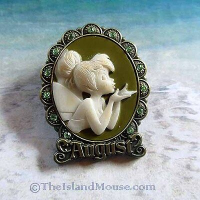 Disney Tinker Bell Birthstone Cameo August Pin (UE:88142)