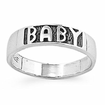 """FREE SHIP! """"BABY"""" FIRST RING .925 Sterling Silver Ring Size  1-5"""