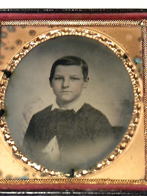 1572. Ca 1850 Ambrotype Photo Young Walter Huff Macon Georgia & Philadelphia PA