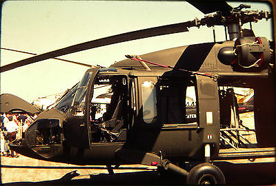 0977. Orig May 81 Kodachrome Slide US Army Sikorsky UH-60A Black Hawk Helicopter