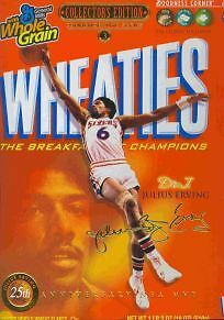 Wheaties Julius Erving Phila 76Ers Nba Gold Collectors Edition Cereal Box