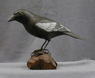 Carved Wood State Bird of Colorado Lark Bunting