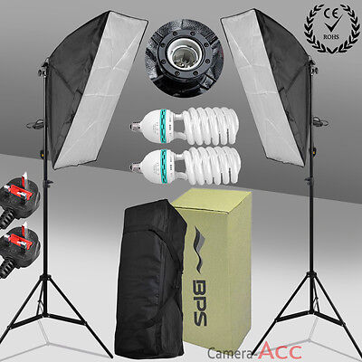 2x125W Photo Studio Continuous Lighting Kit Light stand Softbox UK fast delivery