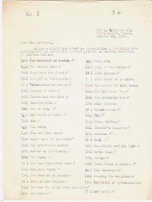 Original 1936 signed, typed letter to FORREST ACKERMAN from ROBERT A. MADLE.