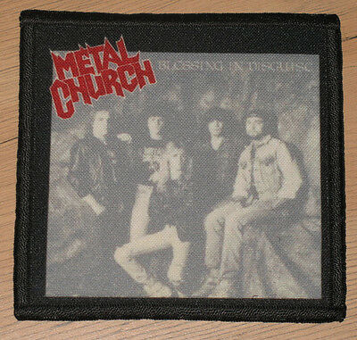 """METAL CHURCH """"BLESSING IN DISGUISE"""" silk screen PATCH"""