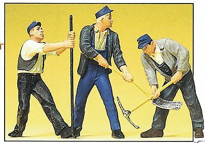 Railway Construction Workers Preiser 63056 1 Gauge Scale 1:32 Accessorie