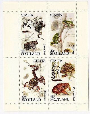 Staffa Gb Frog Frogs Block Of 4 Stamps