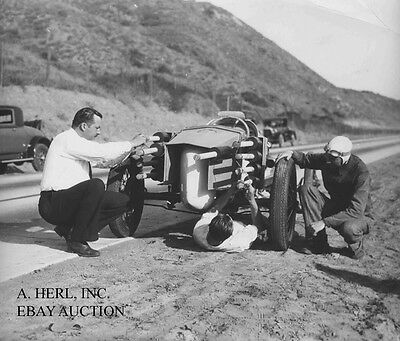 Rocket car 1928 Lou Moore automobile speed record auto photo photograph