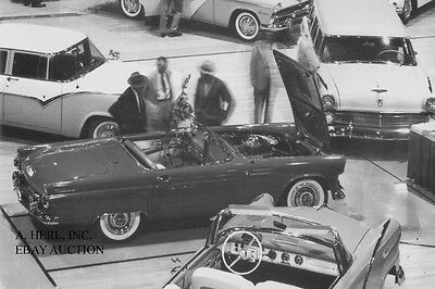 Ford Thunderbird at 1955 Denver Auto Show - 1955 introduction - photograph