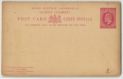 Gambie - entier postal d'One Penny - F547429