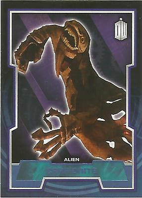 """Topps Doctor Who 2015 - No. 57 """"Carrionite"""" Blue Parallel Card #166/199"""