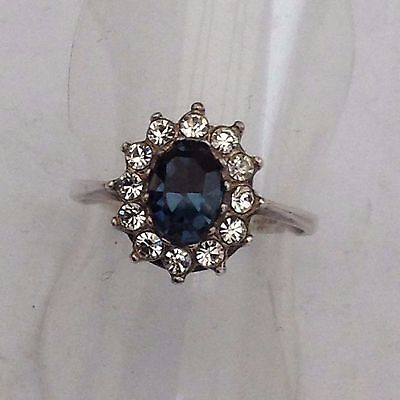 Silver Stone Set Cluster Ring Beautiful