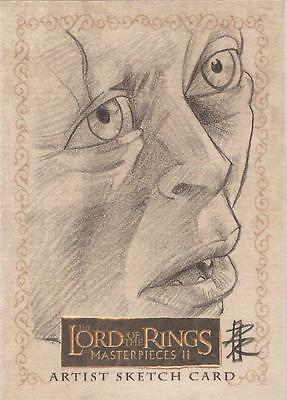 """Lord of the Rings Masterpieces II - Patrick Richardson """"Gollum"""" Sketch Card"""