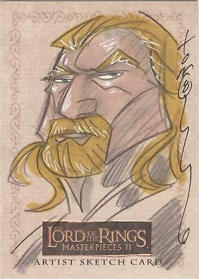 """Lord of the Rings Masterpieces II - Tom Hodges """"Theodan"""" Sketch Card"""