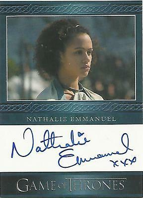 "Game of Thrones Season 4 - Nathalie Emmanuel ""Missandei"" Autograph Card"