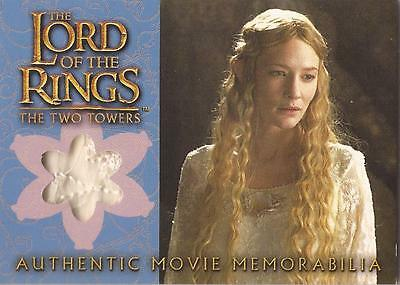 """Lord of the Rings Two Towers - """"Galadriel's Silk Chiffron"""" Costume Card"""