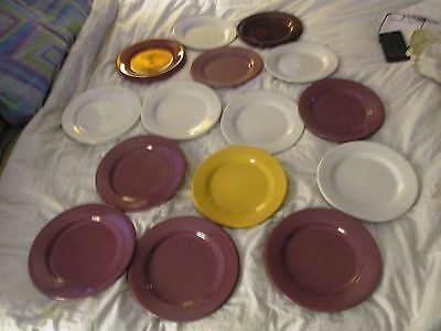 Large Lot Of Vintage H.f.coors Pottery  Dinner Plates. Usa.