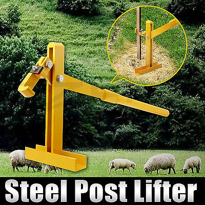 Fence Post Lifter Puller Remover Star Picket Energiser Fencing Steel Pole Tool