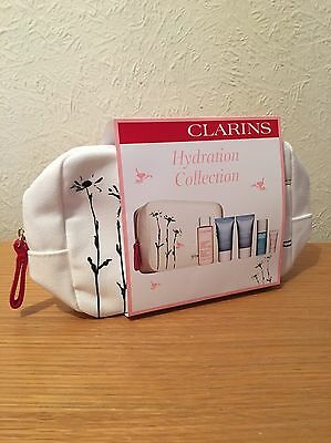 Clarins Hydration Collection + cosmetic bag NEW xmas gift set £41