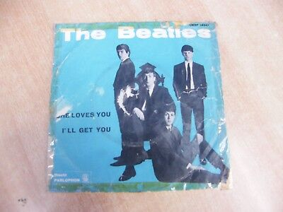 The Beatles She Loves You I Ll Get You 45 Giri Parlophon Qmsp 16347 1963