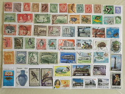 Collection of stamps from JAMAICA : off paper : 65 stamps