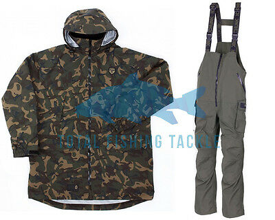 Fox NEW Carp Fishing Chunk 10K Jacket & Bib N Brace Salopettes Combo *All Sizes*