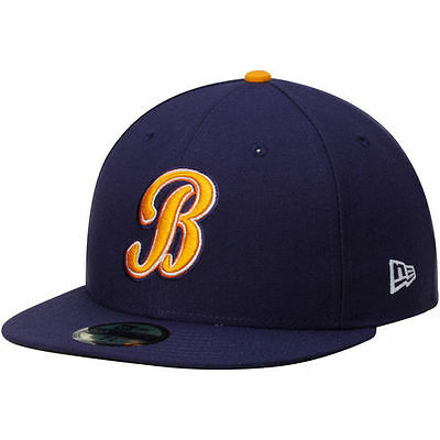 Montgomery Biscuits New Era Authentic Road 59FIFTY Fitted Hat - Navy - MiLB