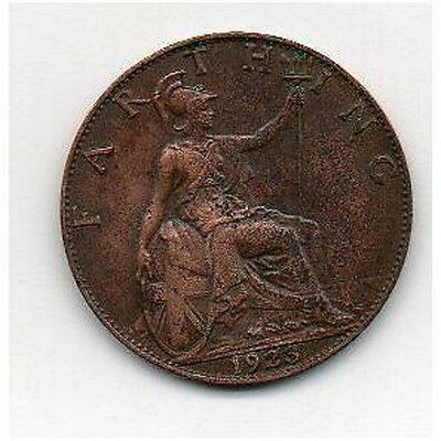 GREAT BRITAIN FARTHING 1923 George V