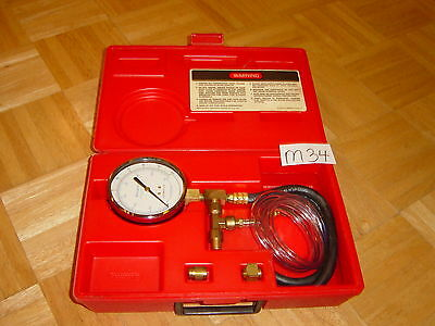 Snap-On Tools Fuel Injection Pressure Gauge Set In Red Case