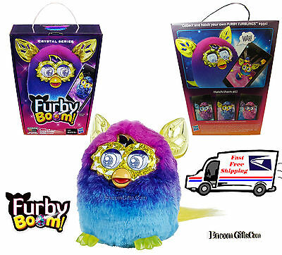 FURBY BOOM Crystal Series Interactive Electronic Toy Pink / Blue by Hasbro NEW