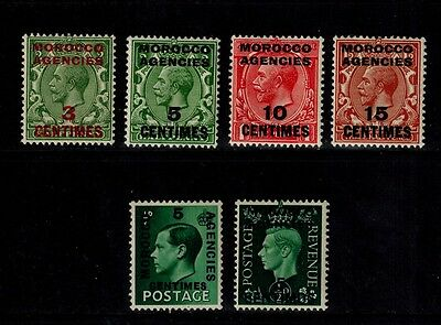 Great Britain Stamps/ 3 English Kings/ Mint Never Hinged/morocco Agencies. Nice!