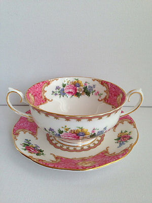 Royal Albert Lady Carlyle Cream Soup and Saucer,perfect condition