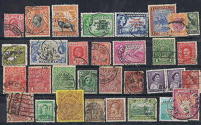 BRITISH COLONIES - Lot of old stamps
