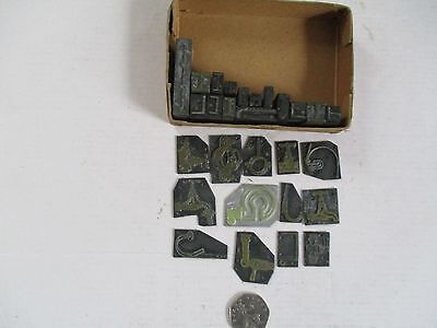 Printers Blocks And Plates From France