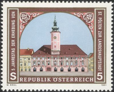 Austria 1991 St Polten/Town Hall/Buildings/Architecture/Heritage 1v (at1132a)