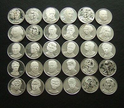 LOT OF 30 SMALL STERLING SILVER MEDALS Apx 49g USA PRESIDENTS AND FIRST LADIES
