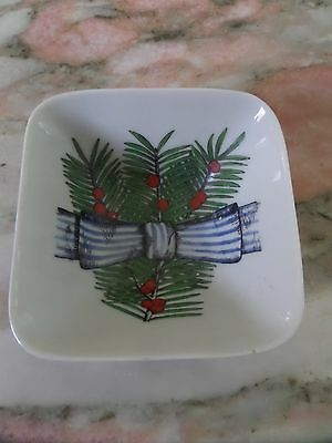 Vintage Antique Fornasetti Christmas Bowl Plate