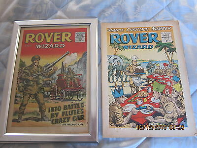 Rover And Wizard Comic- Complete - Used But Still Good.christmas 1966.