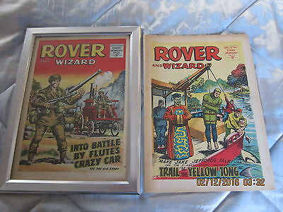 Rover And Wizard Comic- Complete - Used But Still Good. April/15/1967