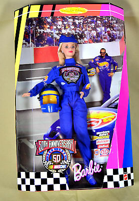 BARBIE, NASCAR 50th Anniversary COLLECTOR EDITION coca-cola hot wheels goodyear