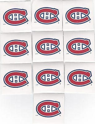 Montreal Canadiens Lot Of 10 New 6 Cm X 6 Cm Stickers