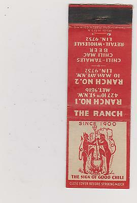 The Ranch-Salt Lake City Matchbook Cover Free Shipping U.s