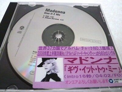 MADONNA Give it 2 Me : very rare Japan promo-only CD : US promo CD : Hard Candy