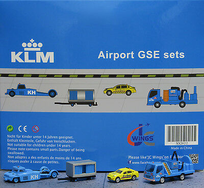JC Wings 1/200 KLM Airport GSE Set 2 XX2022 miniature vehicles