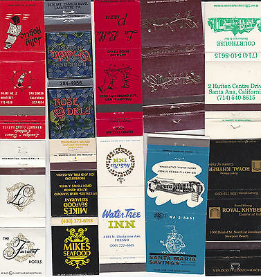 Lot Of 20 Different California Matchbook Covers.  #10