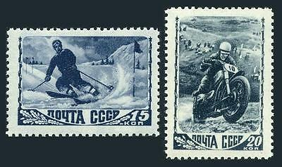 Russia 1253A-1257,MNH. Sport in the USSR,1948.Slalom,Motorcycle,Soccer,Diving,